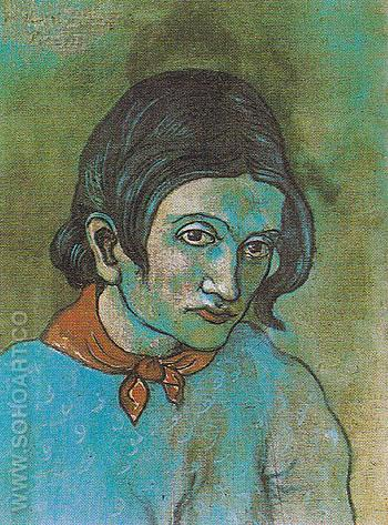 Woman with a Scarf 1903 - Pablo Picasso reproduction oil painting
