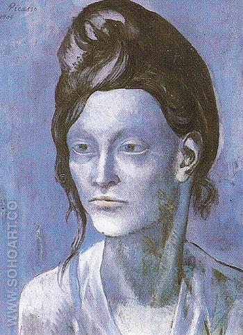 Woman with Her Hair Up 1904 - Pablo Picasso reproduction oil painting