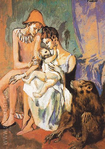 The Acrobats Family with a Monkey - Pablo Picasso reproduction oil painting