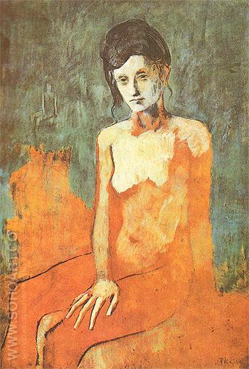 Seated Nude 1905 - Pablo Picasso reproduction oil painting