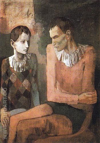 Acrobat and Young Harlequin 1905 - Pablo Picasso reproduction oil painting