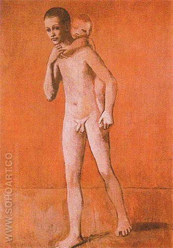 The Two Brothers 1906 - Pablo Picasso reproduction oil painting