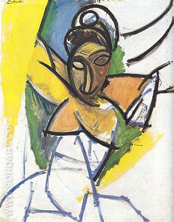 Woman 1907 - Pablo Picasso reproduction oil painting