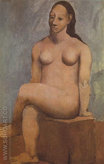 Seated Nude with Crossed Legs 1906 - Pablo Picasso reproduction oil painting