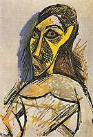 Female Nude Study for Les Demoiselles dAvignon 1907 - Pablo Picasso reproduction oil painting