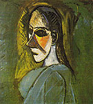 Bust of a Woman 1907 - Pablo Picasso reproduction oil painting