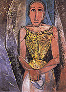 Woman in Yellow 1907 - Pablo Picasso reproduction oil painting