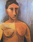 Bust of a Woman 1908 - Pablo Picasso reproduction oil painting