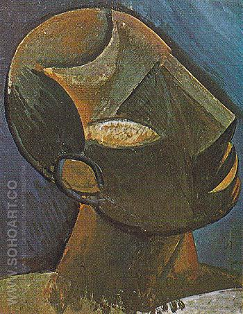 Head of a Man A 1908 - Pablo Picasso reproduction oil painting