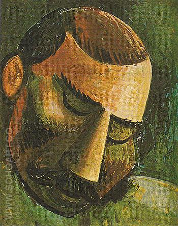 Head of a Man B 1908 - Pablo Picasso reproduction oil painting