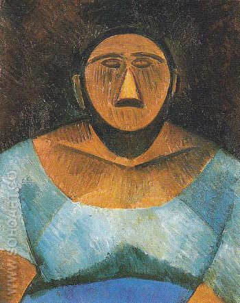 Peasant Woman 1908 - Pablo Picasso reproduction oil painting