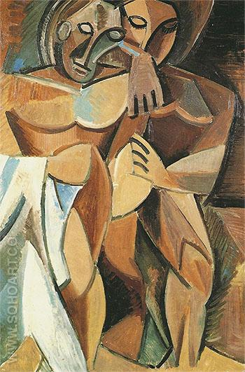 Friendship 1907 - Pablo Picasso reproduction oil painting