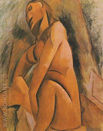 Seated Nude 1908 - Pablo Picasso reproduction oil painting