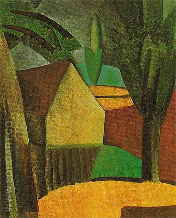 House in a Garden 1908 - Pablo Picasso reproduction oil painting