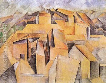 Houses on the Hill 1909 - Pablo Picasso reproduction oil painting
