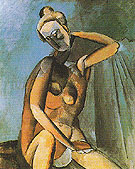 Nude 1909 - Pablo Picasso reproduction oil painting