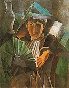 Woman with Fan 1909 - Pablo Picasso reproduction oil painting