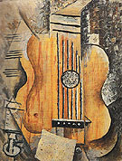 Guitar I love Eve 1912 - Pablo Picasso reproduction oil painting