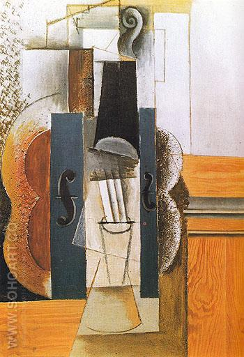 Violin 1913 - Pablo Picasso reproduction oil painting
