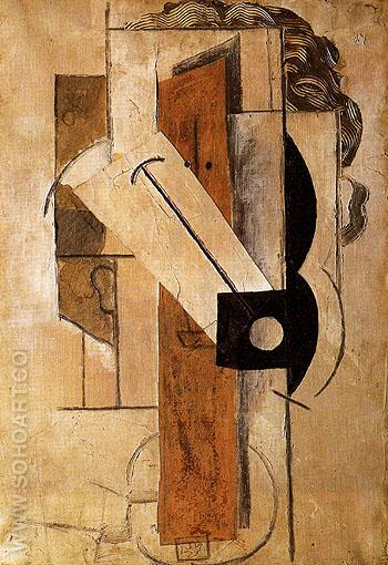 Head of a Girl 1913 - Pablo Picasso reproduction oil painting
