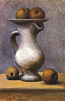 Still Life with Pitcher and Apples 1919 - Pablo Picasso reproduction oil painting
