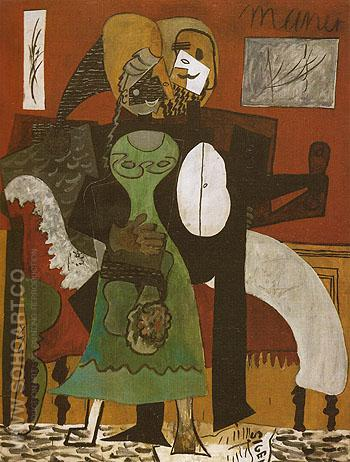 The Lovers 1919 - Pablo Picasso reproduction oil painting