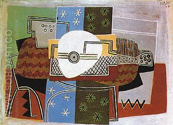 Still Life with Mandolin 1924 - Pablo Picasso reproduction oil painting