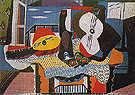 Mandolin and Guitar 1924 - Pablo Picasso reproduction oil painting
