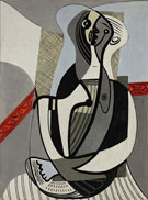Seated Woman c1926 - Pablo Picasso reproduction oil painting
