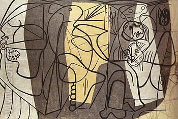 The Artist and his Model 1926 - Pablo Picasso reproduction oil painting