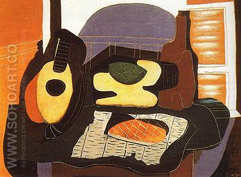 Still Life with a Cake 1924 - Pablo Picasso reproduction oil painting