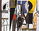 The Artist and his Model 1928 - Pablo Picasso reproduction oil painting