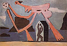 Ballplayers on the Beach 1928 - Pablo Picasso reproduction oil painting