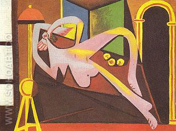 Reclining Woman 1929 - Pablo Picasso reproduction oil painting