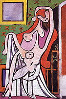 Large Nude in a Red Armchair 1929 - Pablo Picasso reproduction oil painting