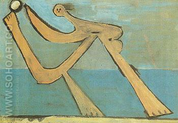 Bather 1928 - Pablo Picasso reproduction oil painting