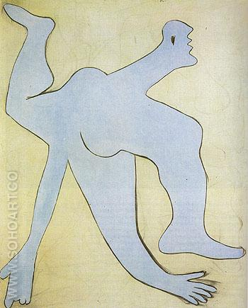 The Blue Acrobat 1929 - Pablo Picasso reproduction oil painting