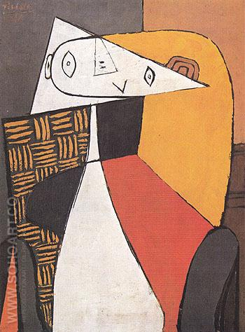 Seated Woman Figure 1930 - Pablo Picasso reproduction oil painting