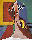 Bust of a Woman with Self portrait 1929 - Pablo Picasso reproduction oil painting