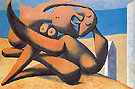 Figures at the Seashore 1931 - Pablo Picasso reproduction oil painting