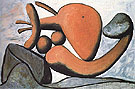 Woman Throwing a Stone 1931 - Pablo Picasso reproduction oil painting