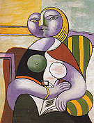 Reading 1932 - Pablo Picasso reproduction oil painting