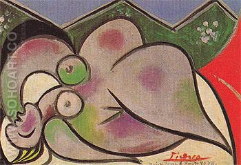 Reclining Nude A 1932 - Pablo Picasso reproduction oil painting