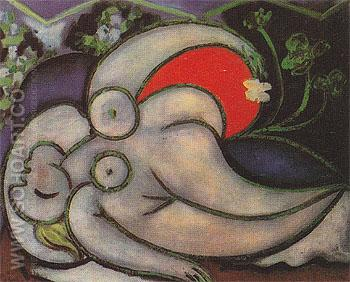 Reclining Nude B 1932 - Pablo Picasso reproduction oil painting