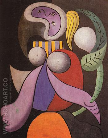 Woman with a Flower 1932 - Pablo Picasso reproduction oil painting