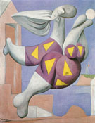 Bather with Beach Ball 1932 - Pablo Picasso reproduction oil painting