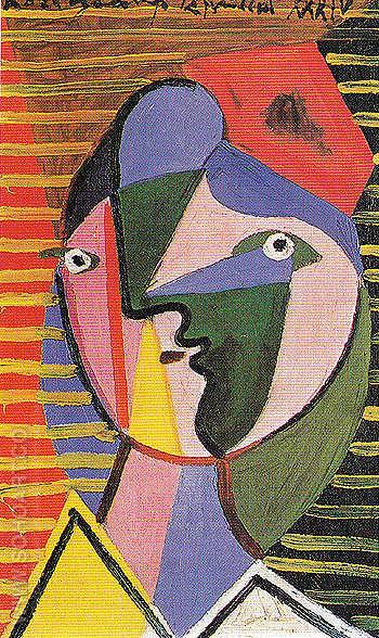 Woman Facing to the Right 1934 - Pablo Picasso reproduction oil painting