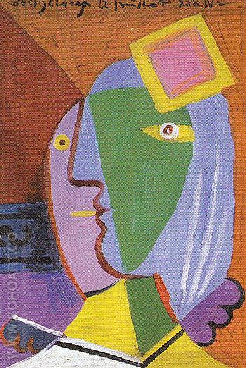 Woman with Cap 1934 - Pablo Picasso reproduction oil painting