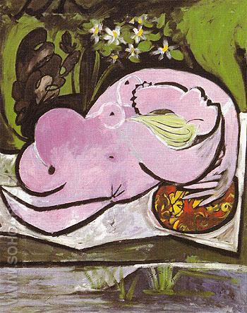 Nude in a Garden 1934 - Pablo Picasso reproduction oil painting