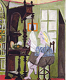 Woman at the Sideboard 1936 - Pablo Picasso reproduction oil painting